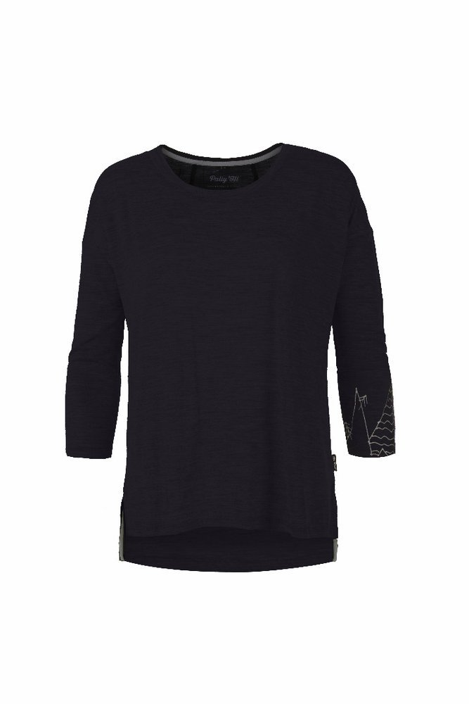 PALLY HI WMN 3/4 Longsleeve FREAK PEAK, bluek, L
