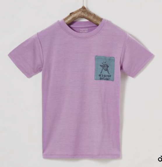 Ibo Merino T-Shirt purple beans